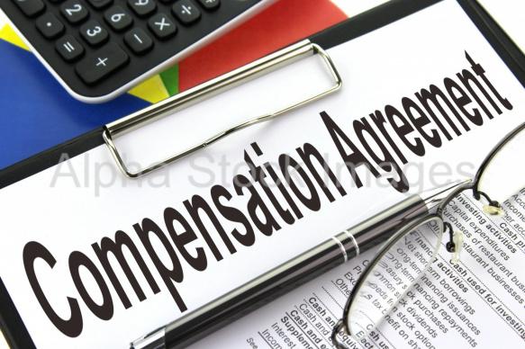 Compensation Agreement Alpha Stock Images